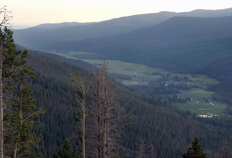 Descending Trail Ridge Road toward Grand Lake