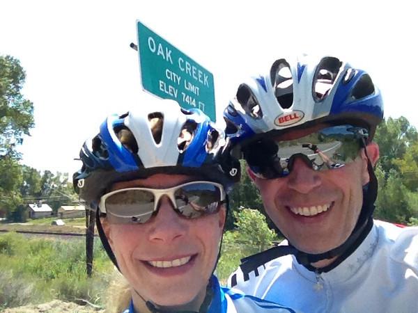 Calla & Randy on Oak Creek loop