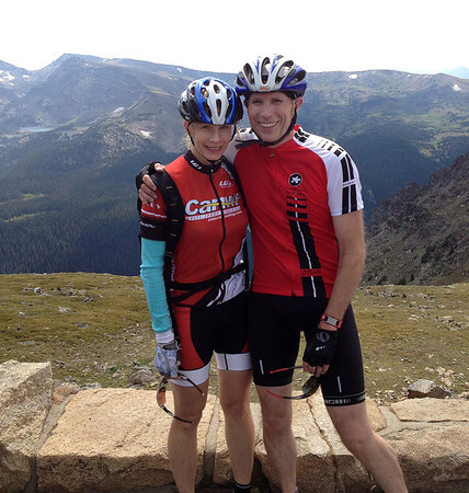 Calla & Randy at the top of Trail Ridge