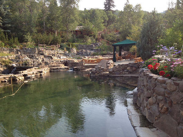 Strawberry Park Hot Springs in the morning