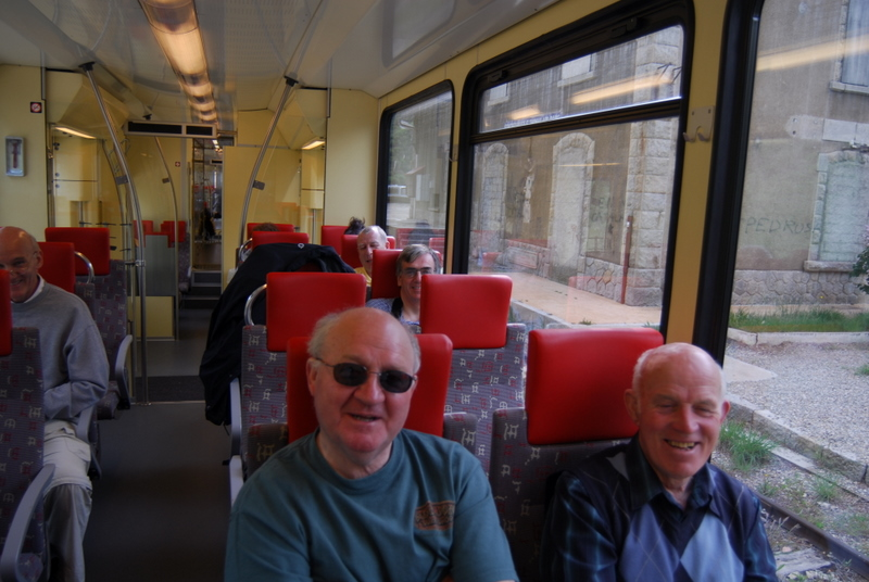 Tommy + Joe on the Little Yellow Train to Mont Louis