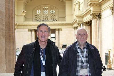 6-Naphtali Knox and Al Savay at Union Station (Al's camera, unknown photographer)