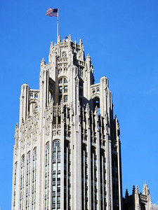 37-Tribune Tower, flying buttresses and all — THE END
