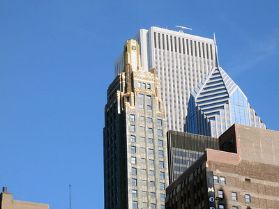 36-Union Carbide (art deco tower); Aon (tallest); and Two Prudential Center (pyramid).