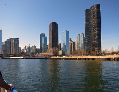12-Lakeshore East (a district east of Michigan Avenue). Lake Point Tower Condominiums at far right.
