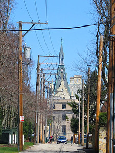 19-American Studies Program at Northwestern. Telephoto from Church St between Orrington and Chicago.