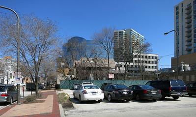 4-Looking north on Oak Av toward buildings on Church St