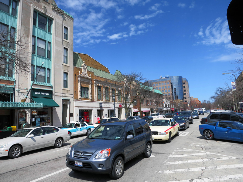 13-Sherman Avenue looking north toward Northwestern University