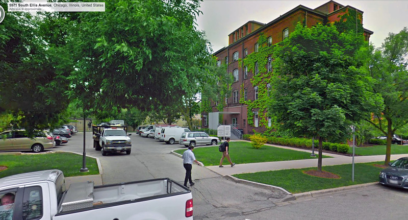 4a-Entry, Young Building, 5555 S. Ellis (1888): my office for six years! (Google Streetview)