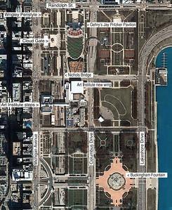 Millennium Park (Google Maps, my labels)