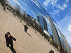 14-N Knox reflected photographing Cloud Gate