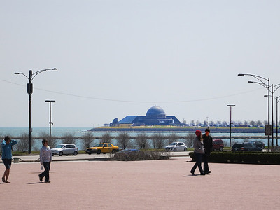 30-Adler Planetarium from Buckingham Fountain