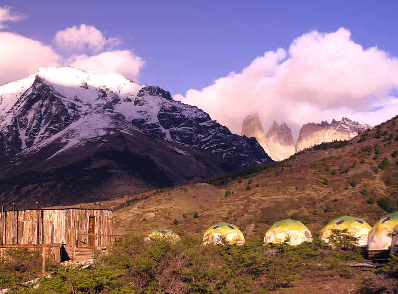 Patagonia - EcoCamp near the Paine Towers in Torres del Paine