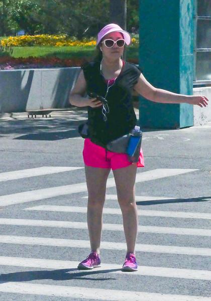 Jogging modern chinese woman