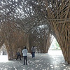 structure made out of bamboo