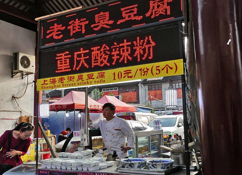Roadside food stalls.