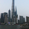 Shanghai skyline with famous buildings- the tallest one here  is the Shanghai Tower.