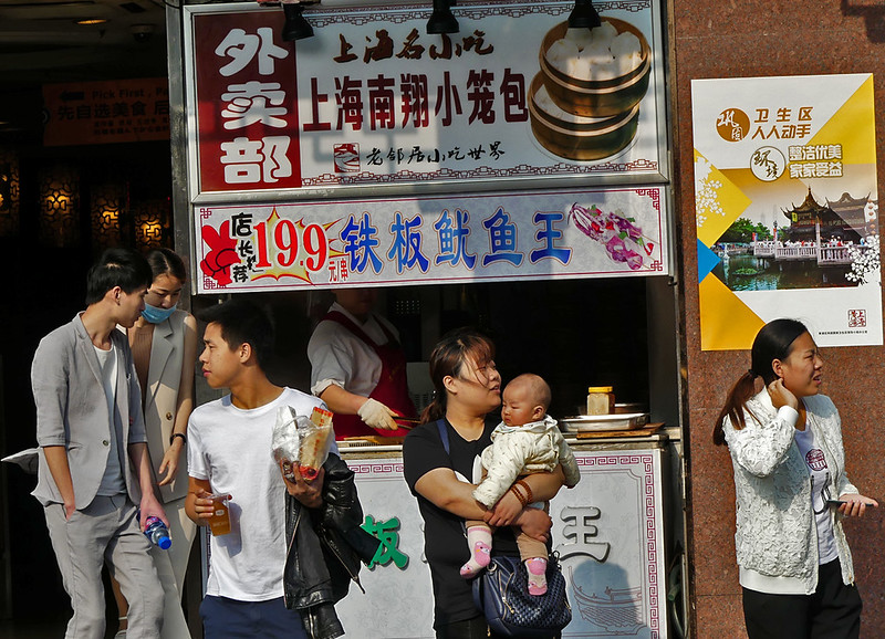 food stalls line the streets