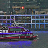 Night river cruise on the Huangpu River - Buildings were lit with myriad lights of changing colors and advertisements .<br /> Should I enjoy this spectacle when so many poor people in developing countried do not have a single electric bulb???