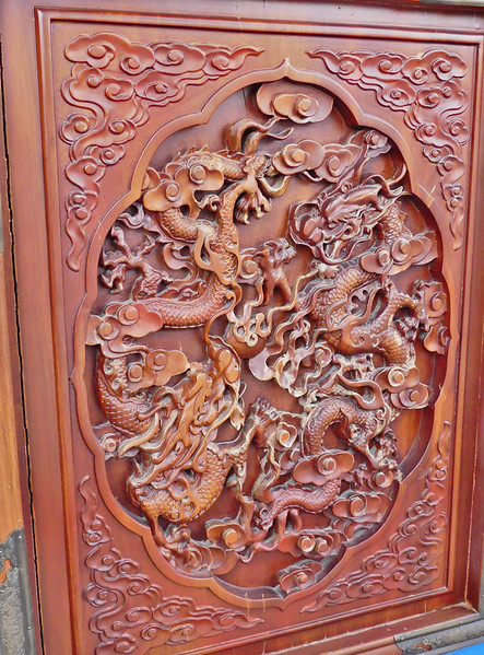 Dragon decorations on the walls