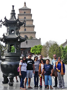 Our group in front of the Pagoda