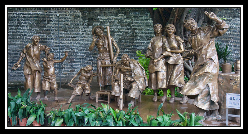 Bronze sculptures at the Chen Family Shrine - Guangzhou...