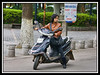 Riding motorscooter, Guilin...