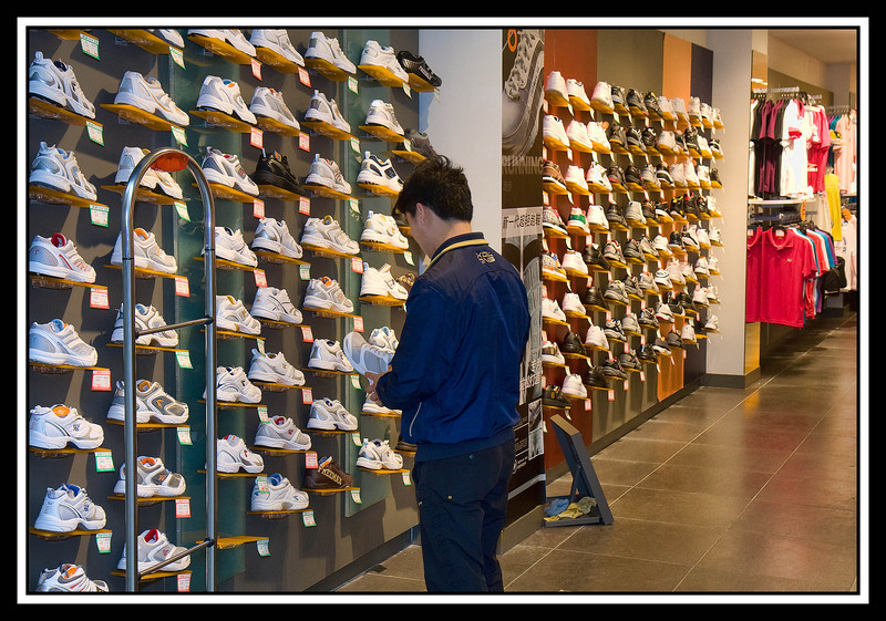 Shoe store in Guilin shoppping mall....