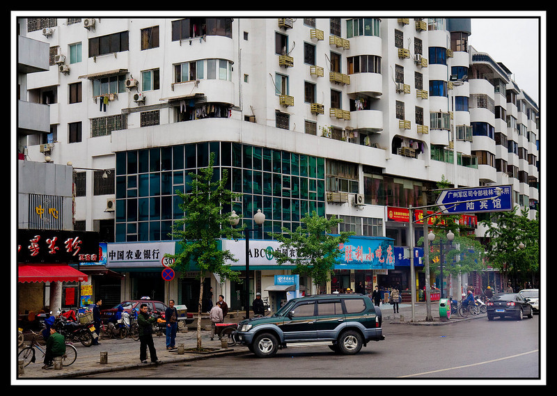 Guilin - street corner...