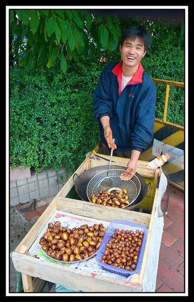 Chestnut vendor, Guangzhou...