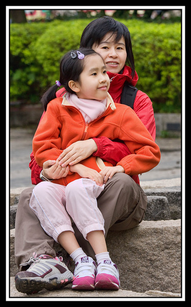 Mother and daughter, Guilin...