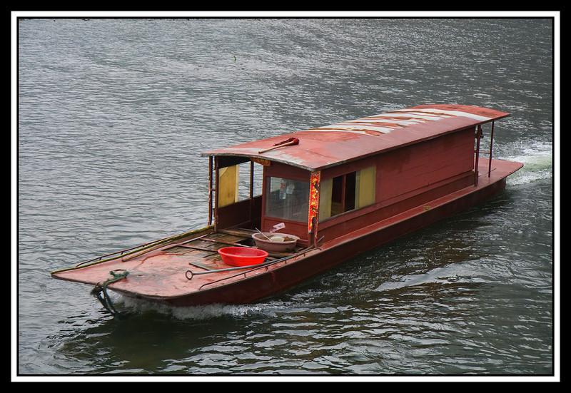 Boat on Li River...