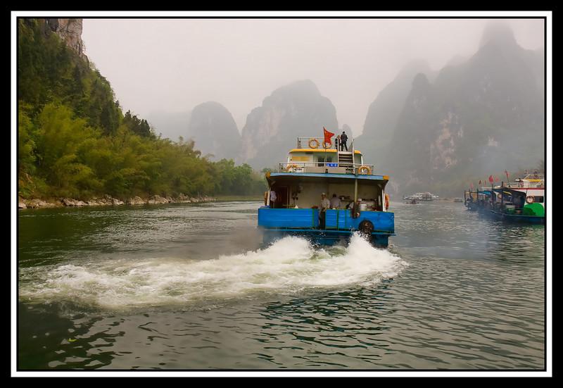 Boat getting underway...