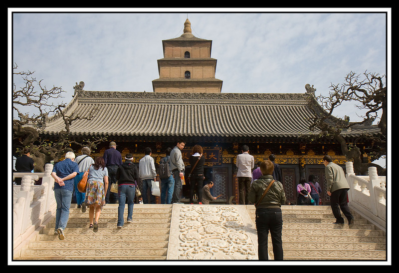 Temple with Pagoda behind...