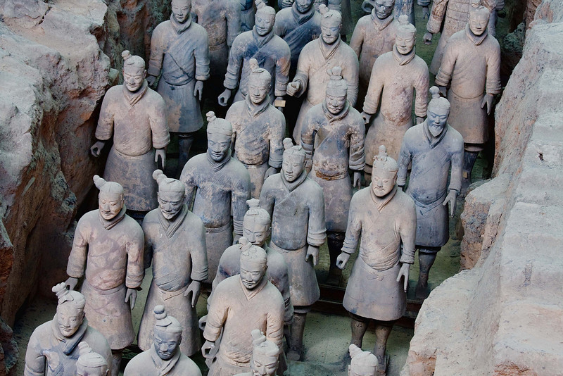 It must have taken thousands of man-hours to complete the Terracotta Army....