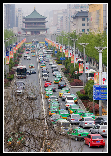 Traffic going through City Gate...