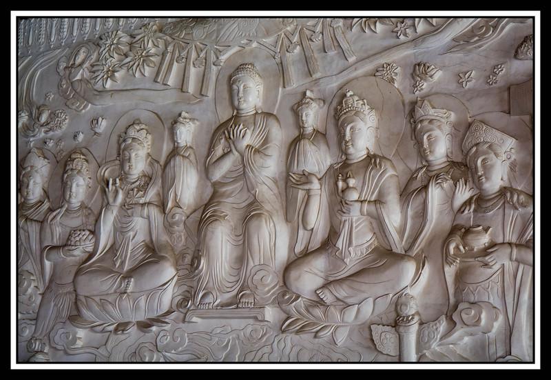 Buddist wall relief...