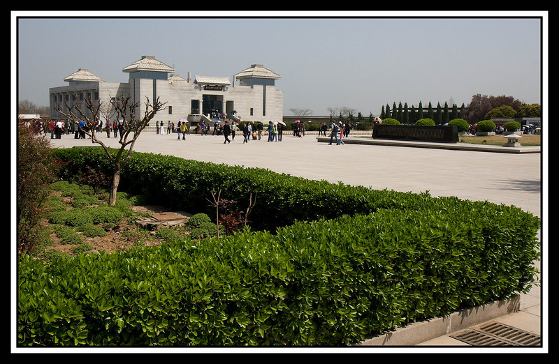 Grounds of the Terracotta Warrior complex showing Multiple Exhibition Building...