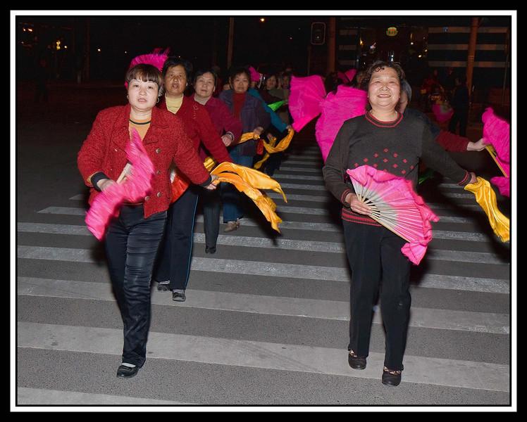 Fan dancers...