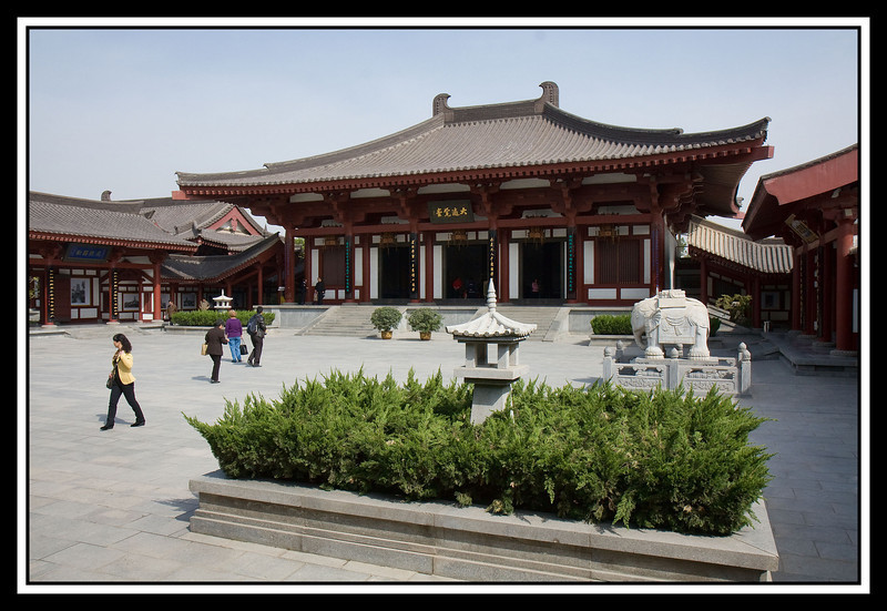 Temple courtyard...
