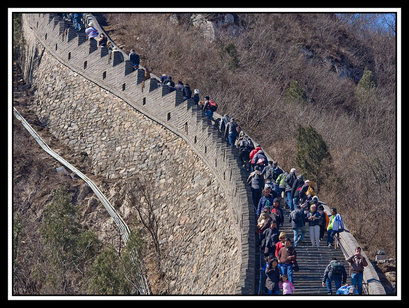 Climbing Great Wall...