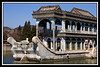 Marble boat; Dowager Empress Tzu Hsi (or Cixi) built this with funds allocated to modernize Chinese Navy in late 19th Century...