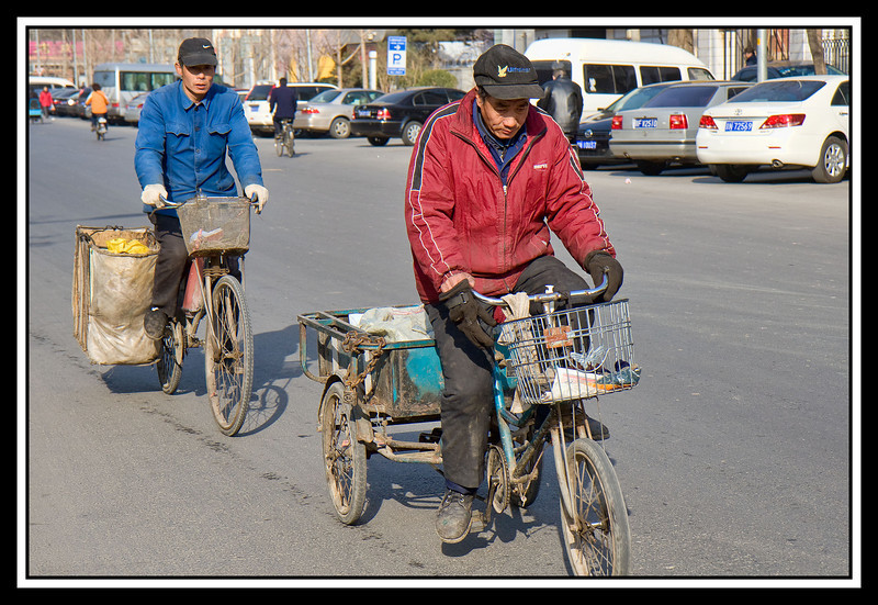 Bike delivery in front of Holiday Inn Express, Beijing...