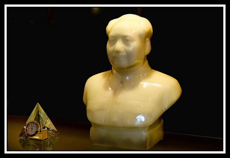 Jade Chairman Mao bust...