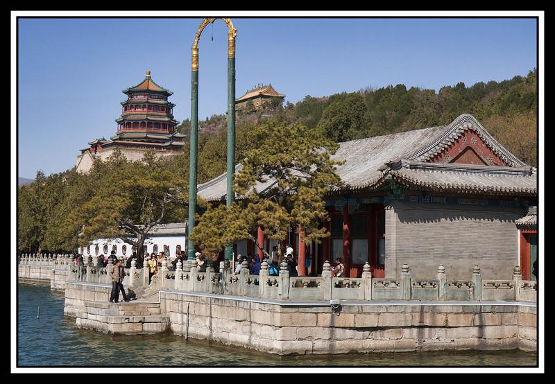Pagoda and lake at Summer Palace...