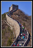 Unusually clear day at the Great Wall. Stiff winds from Mongolia blew away the normal smog...