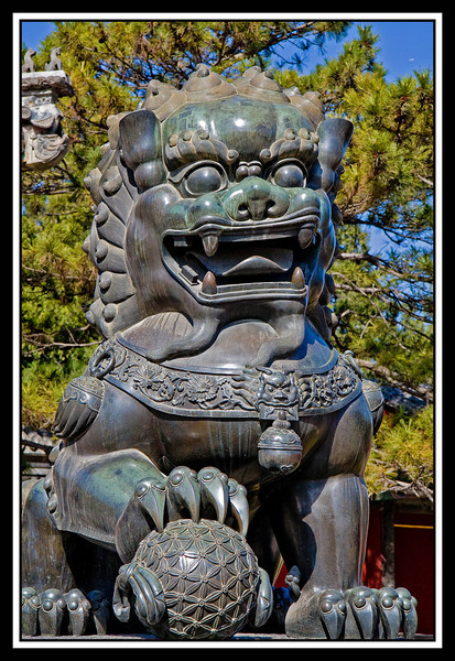 Temple of Hevenly Peace Male Guardian Lion