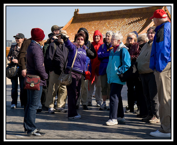 Beijing guide with group...