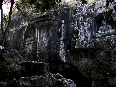 Friday Morning - Hangzhou - Rock Carvings - Peak  Flying From Afar 3/9/07