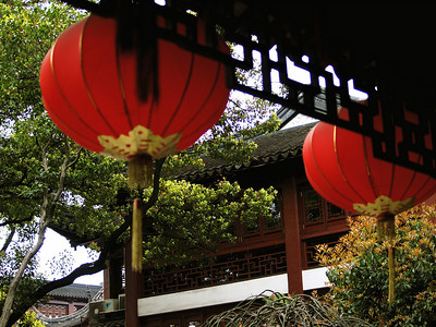 China. Old Shanghai. Yuyuan Garden. Lanterns.